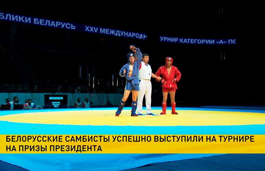 Белорусы завоевали 25 медалей на международном турнире по самбо в Минске