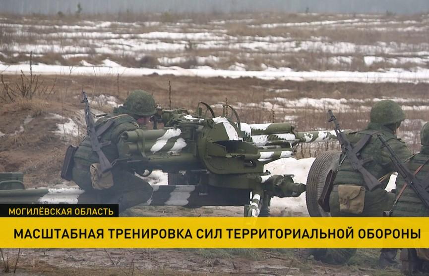 Под Осиповичами прошла масштабная тренировка сил территориальной обороны