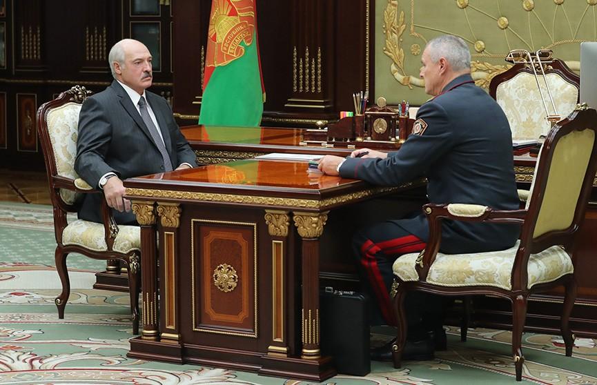 Александр Лукашенко принял с докладом министра внутренних дел