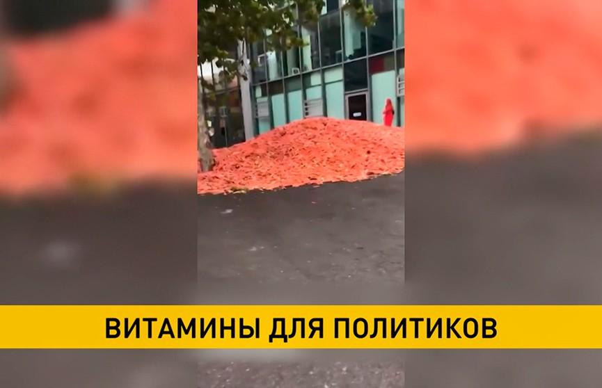 29 тонн моркови на улице Лондона: так художник решил привлечь внимание к проблеме пищевых отходов