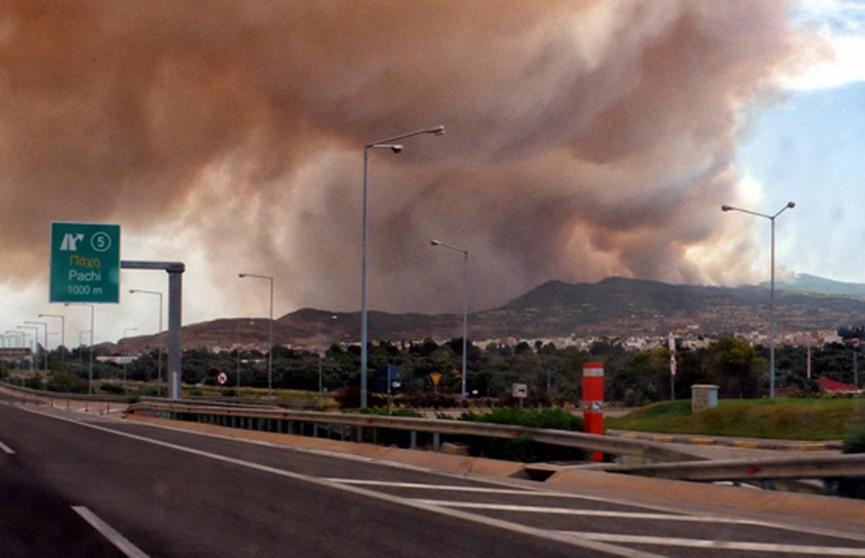 Крупный лесной пожар распространяется в Греции, есть жертвы