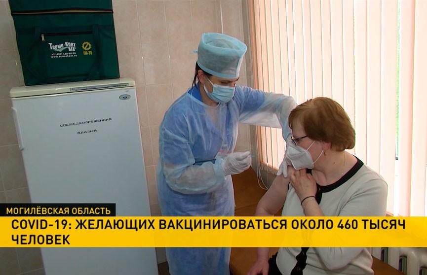 COVID-19: желающих вакцинироваться около 460 тысяч человек
