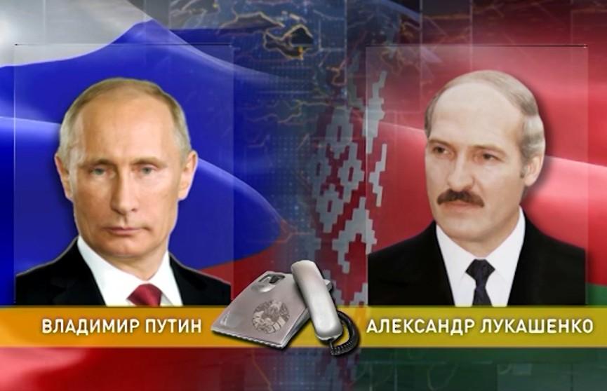 Александр Лукашенко и Владимир Путин обсудили по телефону расширение торговли 