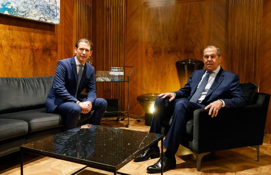 Канцлер Австрии положительно оценил встречу с Лавровым: говорили в том числе и о Беларуси