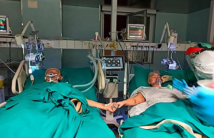 Любовь побеждает коронавирус: пожилая итальянская пара с Covid-19 отметила свою золотую свадьбу в отделении интенсивной терапии