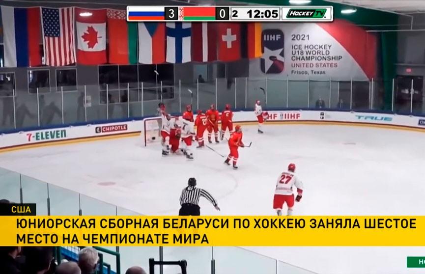 Юниорская сборная Беларуси по хоккею заняла шестое место на чемпионате мира