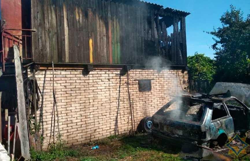 6-летний ребёнок игрался со спичками и спалил гараж соседа с машиной в Толочинском районе