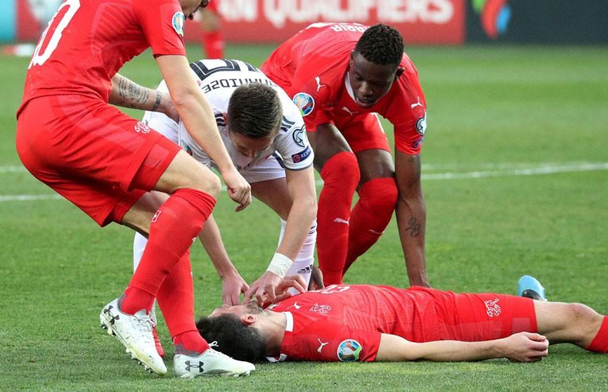 Грузинский футболист спас жизнь оппоненту во время отборочного матча ЧЕ-2020