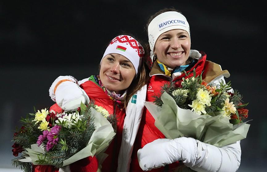 Дарья Домрачева и Надежда Скардино попрощались с большим биатлоном