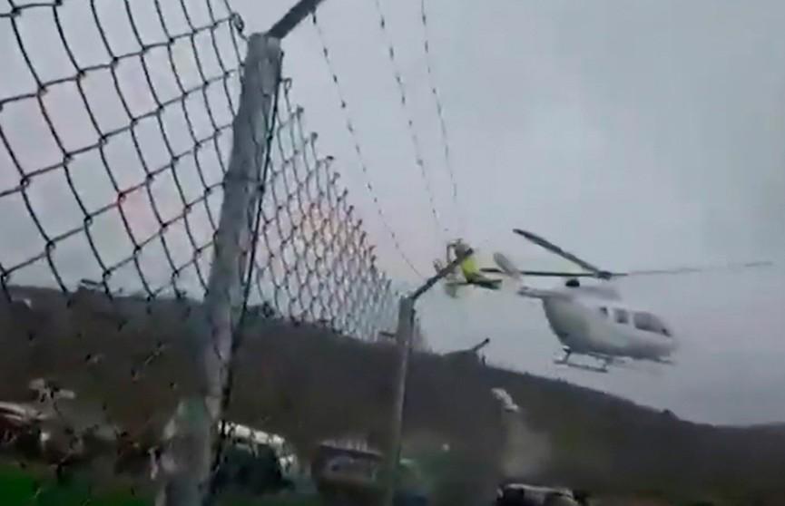 Президент Боливии Эво Моралес едва не разбился на вертолёте: в Сети появилось видео жёсткого приземления