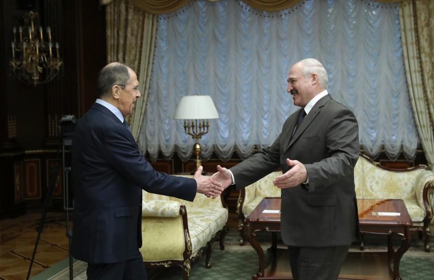 Лукашенко на встрече с Лавровым: столкнуть лбами Беларусь и Россию не получится