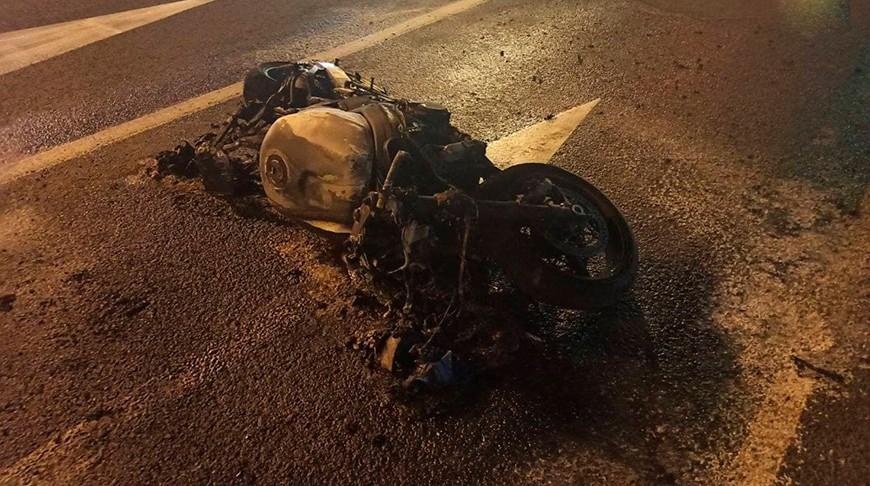 На Немиге загорелся мотоцикл. Что произошло?