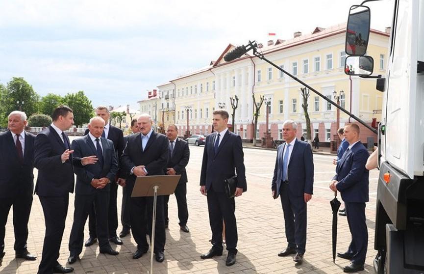 Александр Лукашенко с рабочей поездкой посетил Полоцк