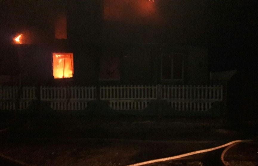 Извещатель помог спастись семье на пожаре в Брагинском районе