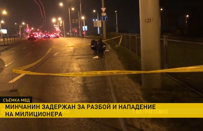 Ночью в Минске мужчина ограбил таксиста и был задержан милицией