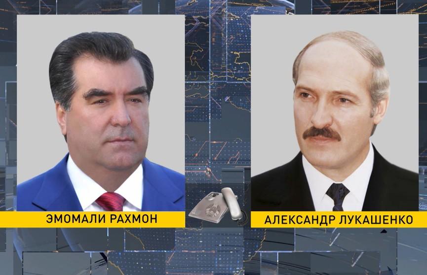 Александр Лукашенко поздравил Эмомали Рахмона с победой на президентских выборах