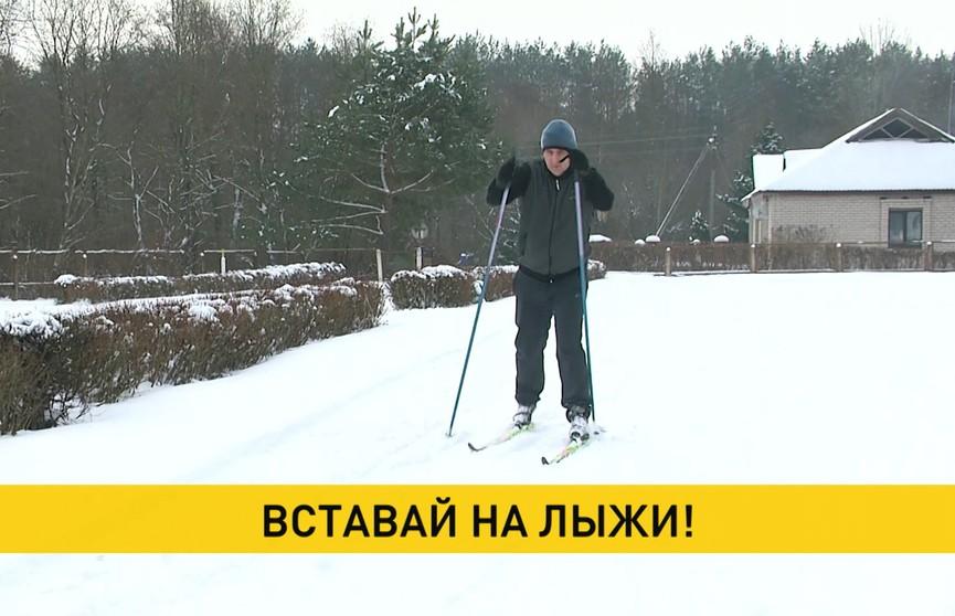 Жители деревни Пушки Лиозненского района проложили лыжную трассу через лес