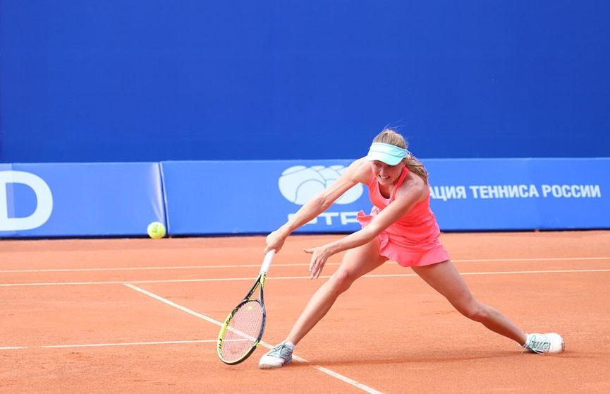 Александра Саснович проиграла Ольге Данилович из Сербии в полуфинале турнира WTA в Москве