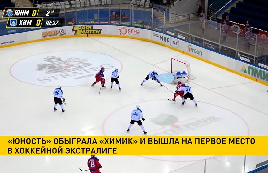 Минская «Юность» победила новополоцкий «Химик» в матче чемпионата Беларуси по хоккею