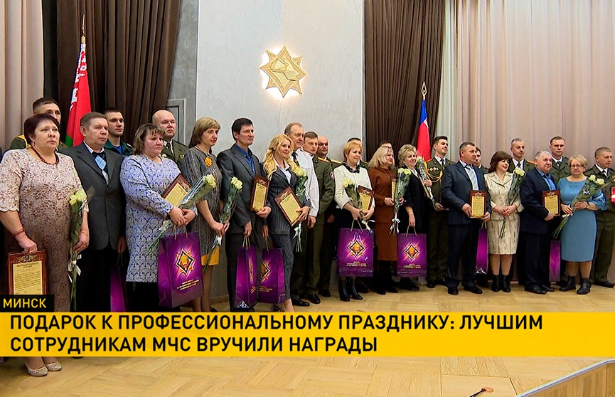 В преддверии Дня спасателя награды получили лучшие сотрудники МЧС