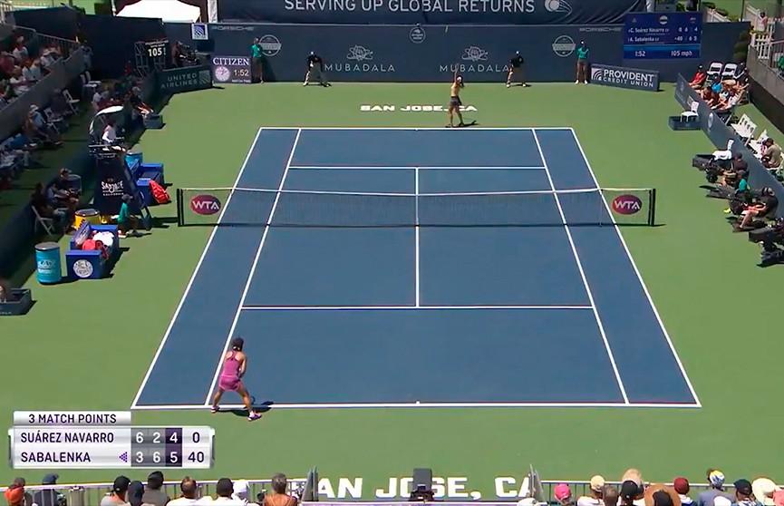 Арина Соболенко вышла в полуфинал теннисного турнира в США