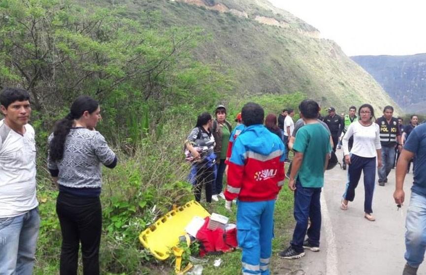 Автобус с детьми упал в пропасть в Перу