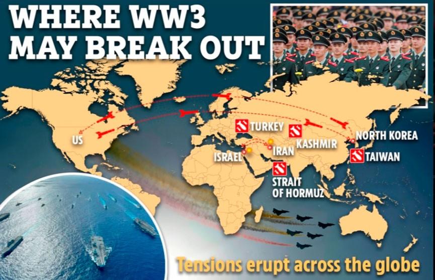The Sun опубликовало карту третьей мировой войны
