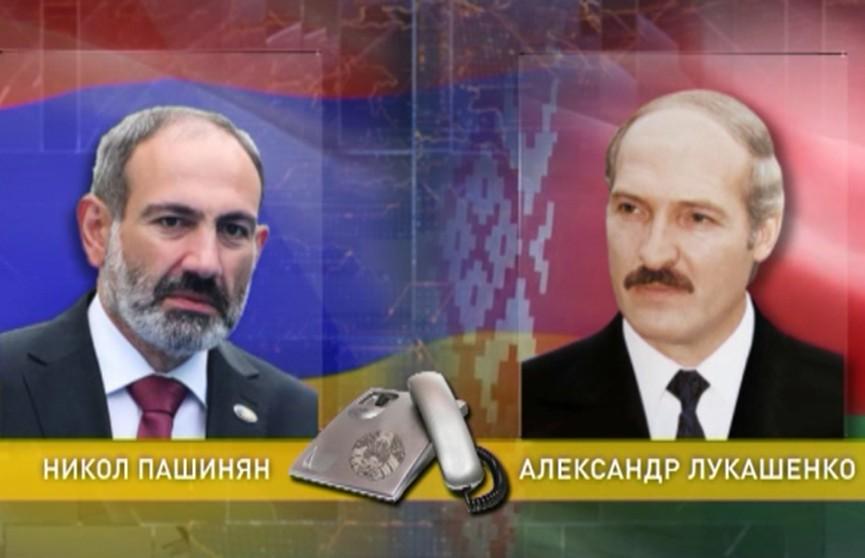Александр Лукашенко провёл телефонный разговор с премьер-министром Армении Николом Пашиняном