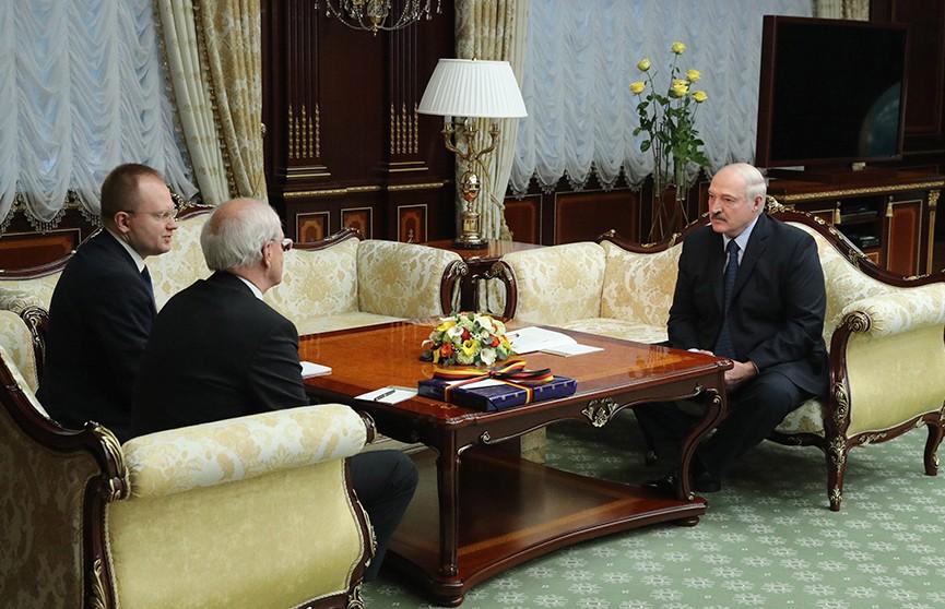 Александр Лукашенко встретился с послом Германии в Беларуси Петером Деттмаром