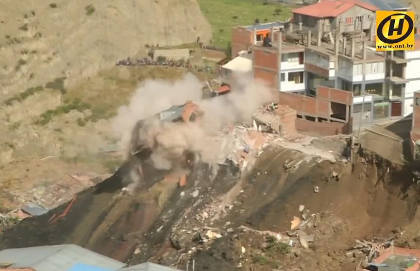 Мощный оползень обрушился на Ла-Пас