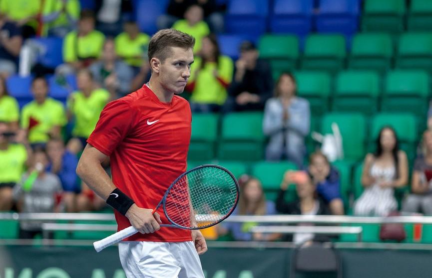 Егор Герасимов вышел в третий круг теннисного турнира в Нур-Султане
