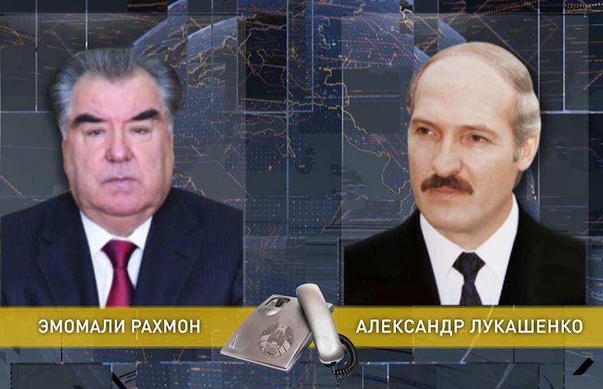 Александр Лукашенко и Эмомали Рахмон по телефону обсудили подготовку визита президента Таджикистана в Беларусь