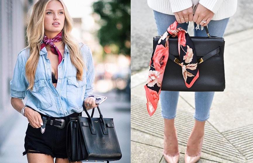 3 великолепные идеи, как носить шейный платок весной-2020