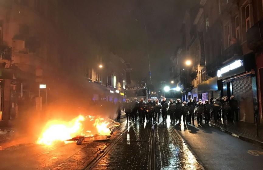 Беспорядки в Бельгии: задержано более 70 участников