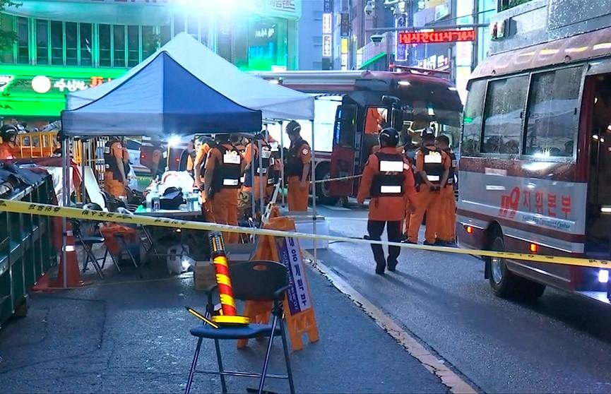 Два человека стали жертвами обрушения здания ночного клуба в Южной Корее