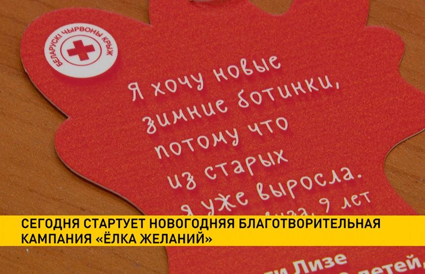 Стартует новогодняя благотворительная кампания «Ёлка желаний»