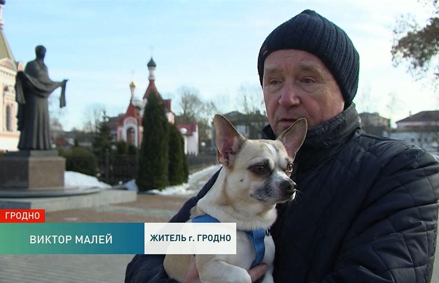 В Гродно живёт уникальный пёс, который заводит песню, как только слышит звон колоколов