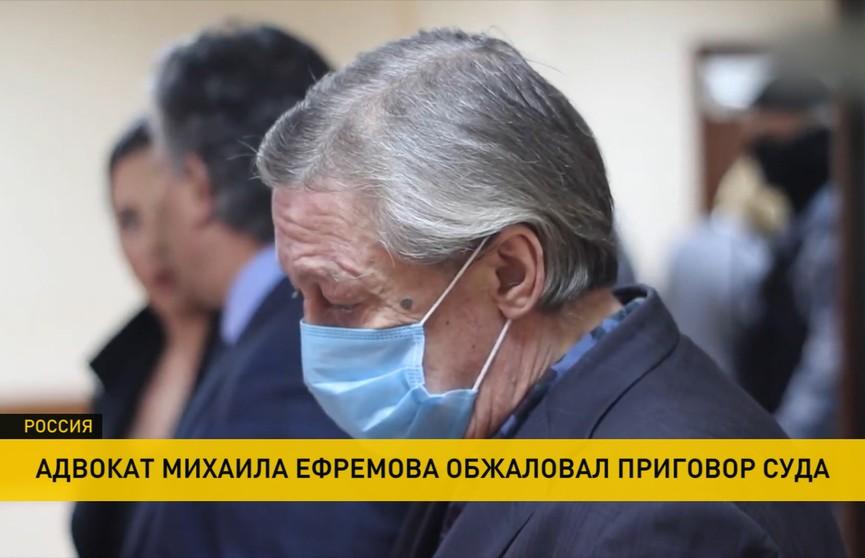 Адвокат Михаила Ефремова обжаловал приговор суда за смертельное ДТП