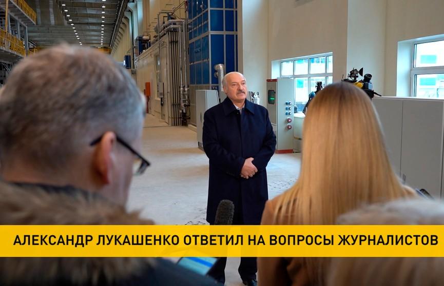 Лукашенко пообщался с журналистами во время посещения Добрушской бумажной фабрики: о переговорах с Путиным, отношениях Беларуси и США, «сахарном деле» и коронавирусе