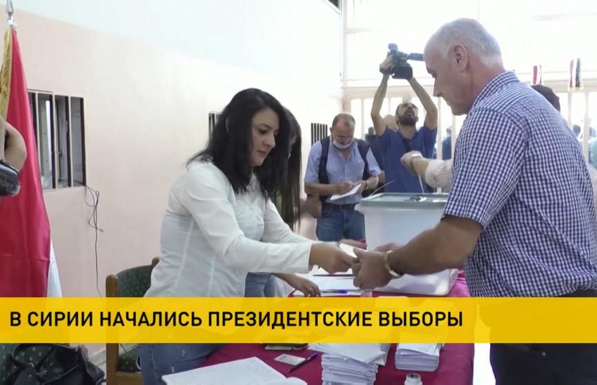 Выборы президента начались в Сирии