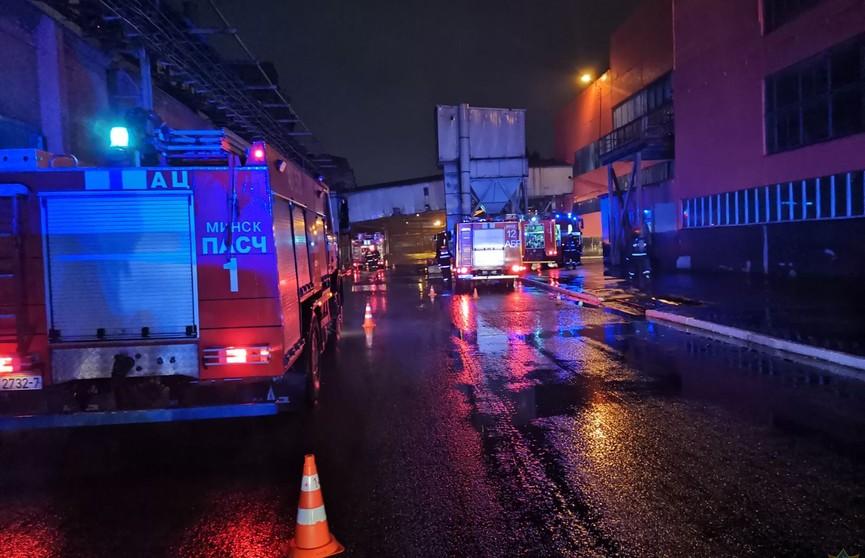 В Минске спасатели ликвидировали возгорание трансформаторной подстанции