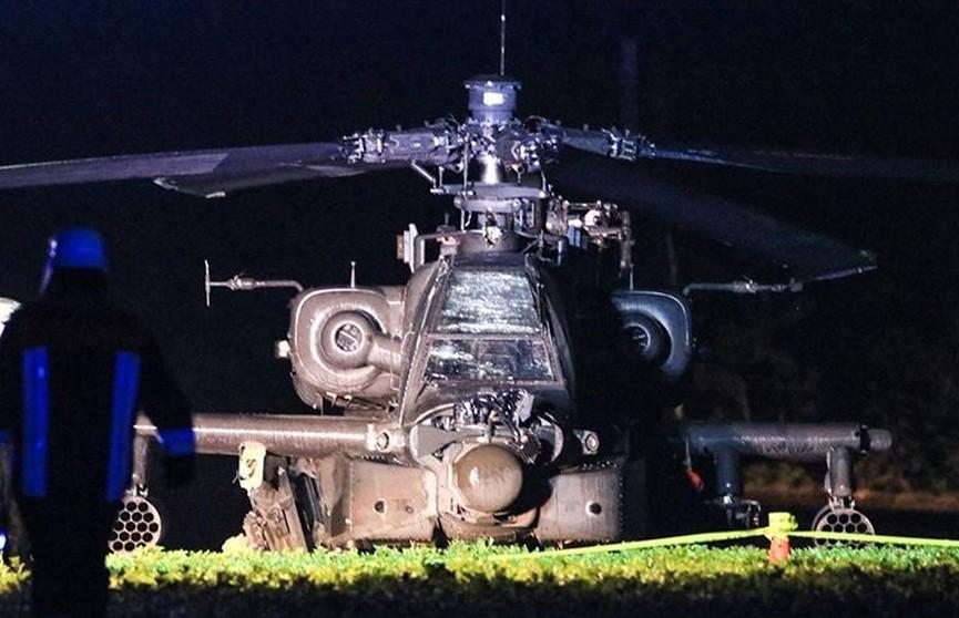 Американский военный вертолет влетел в линию электропередачи в Германии