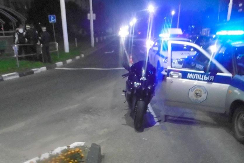 Мотоциклист угодил в реанимацию после ДТП в Витебске