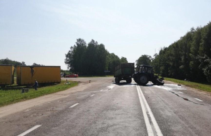ДТП в Малоритском районе: тракторист не пропустил фуру и погиб