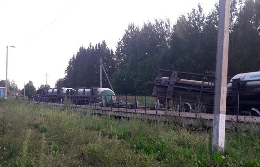 16 цистерн с пропаном сошли с рельсов в Витебской области