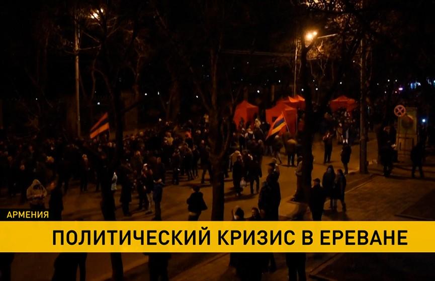 Протесты сторонников и противников Никола Пашиняна не утихают в Армении