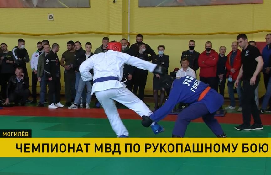 Чемпионат Беларуси по рукопашному бою прошел в Могилеве среди сотрудников силовых структур
