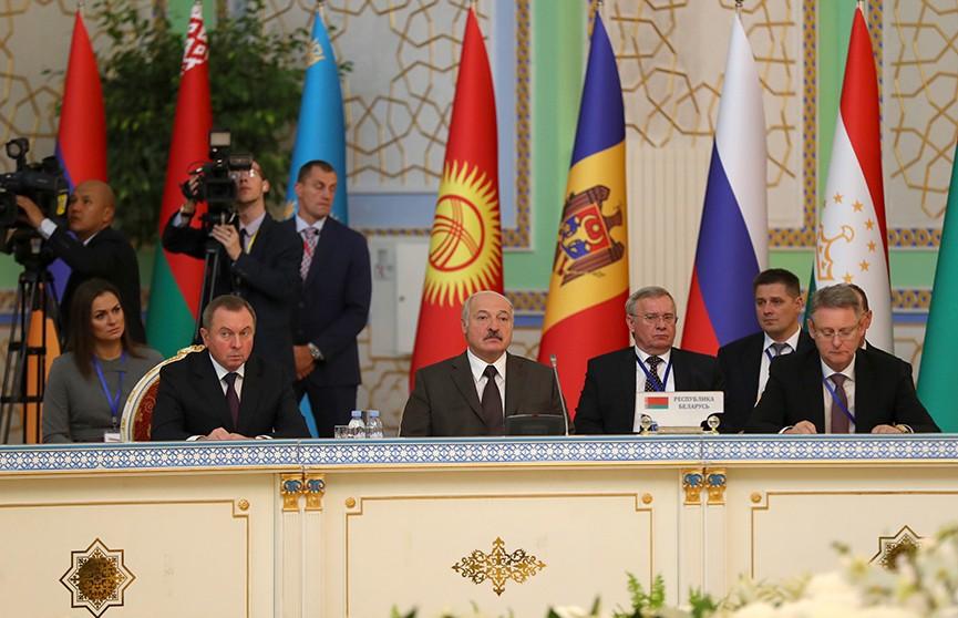 Александр Лукашенко предложил синхронизировать взаимодействие в СНГ с интеграцией в Большой Евразии