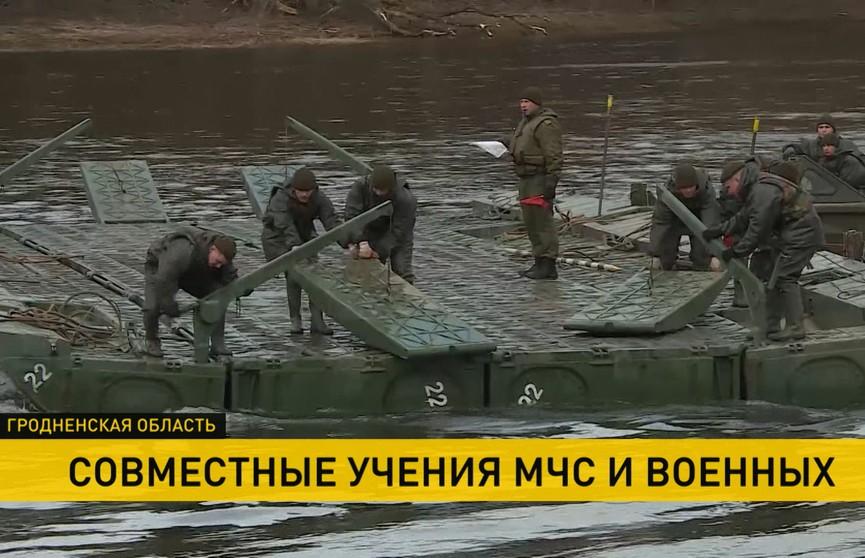 Учения МЧС и военных в Гродно: что будет, если разрушится мост на Немане