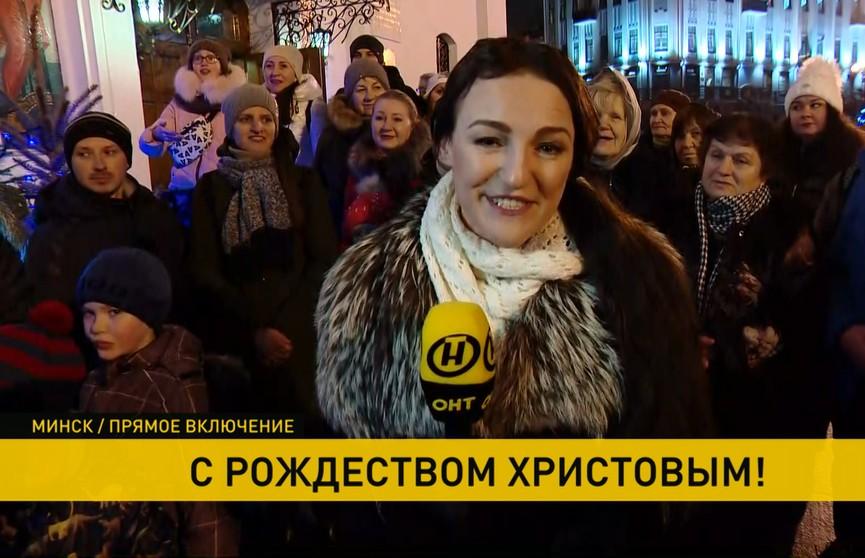 Православные празднуют Рождество по всей Беларуси